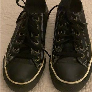 Converse Black Leather Size Women's 7.5